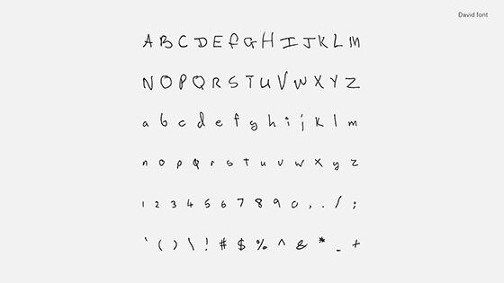 Font Unik Songwriter Font David Bowie 2 B7334