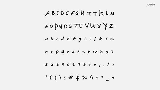 Font Unik Songwriter Font Kurt Cobain 2 52569