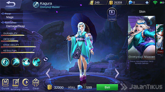 Hero Mobile Legends Skill Paling Banyak Kagura 45126
