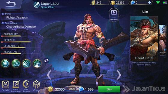 Hero Mobile Legends Skill Paling Banyak Lapu Lapu Ab22a