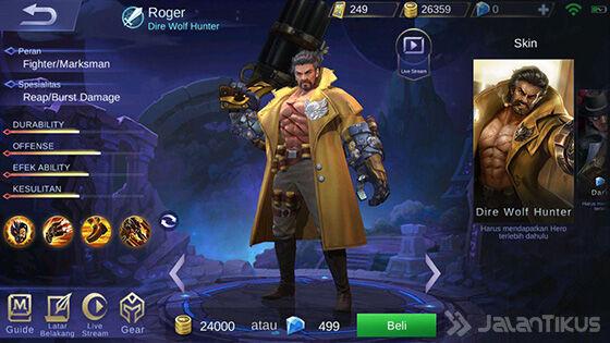 Hero Mobile Legends Skill Paling Banyak Roger E7325
