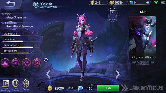 Hero Mobile Legends Skill Paling Banyak Selena B3430