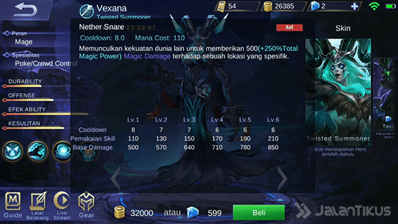 Skill 2 Vexana Mobile Legends E2838