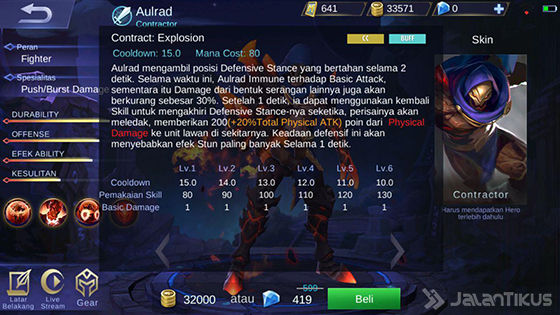 Skill 2 Aulrad Mobile Legends 76283