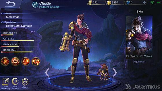 Hero Claude Mobile Legends 5b0be