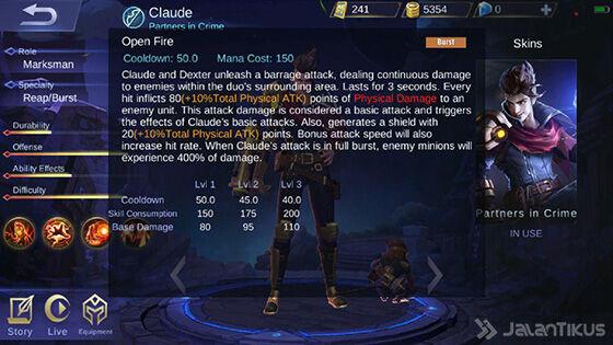 Skill 3 Claude Mobile Legends Fe52e