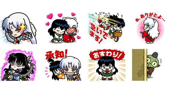 Kolaborasi Line Rangers Inuyasha Sticker Dab0d