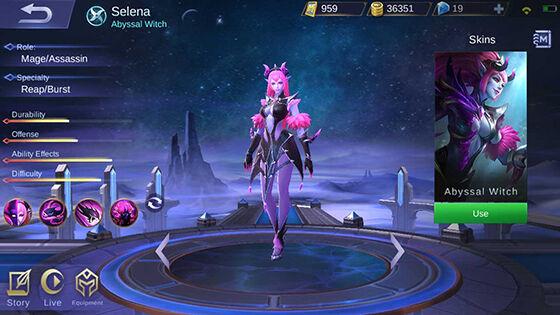 Hero Selena Mobile Legends Intro Cfe36