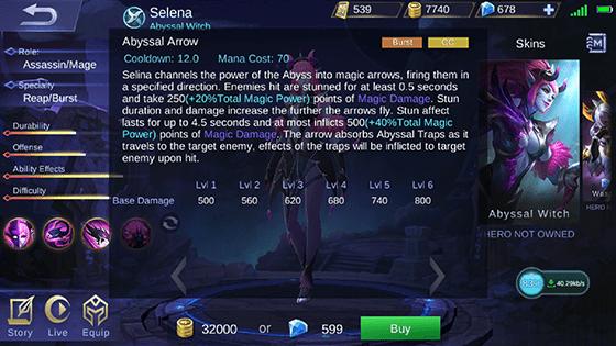 Skill 2 Selena Mobile Legends A 2ae44