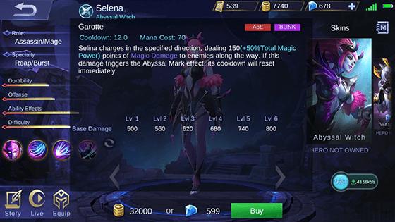 Skill 2 Selena Mobile Legends B Ee4e1