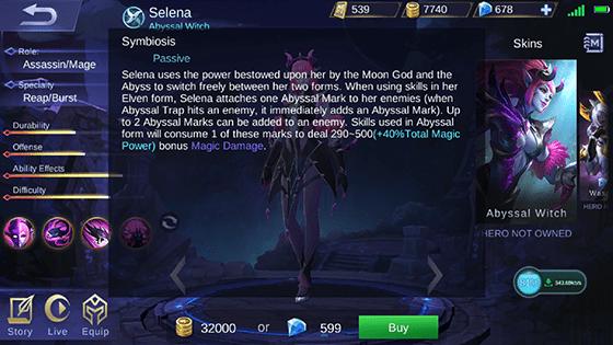 Skill Pasif Selena Mobile Legends 4d84d