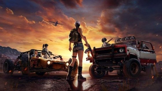wallpaper pubg hd man 2 cars b964f