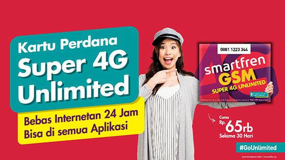 Paket Internet Smartfren Super 4g Unlimited Dc41a