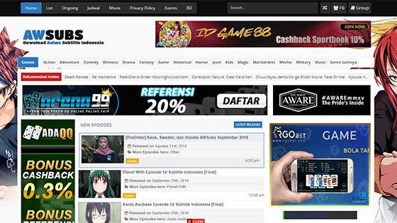 20 Situs Download Anime Sub Indo Gratis Sub Indo Jalantikus