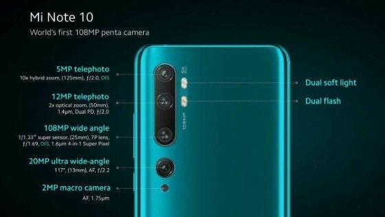 Xiaomi Mi Note 10 Camera 6352d