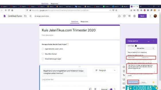 Cara Membuat Soal Online Dengan Timer 5ff0d