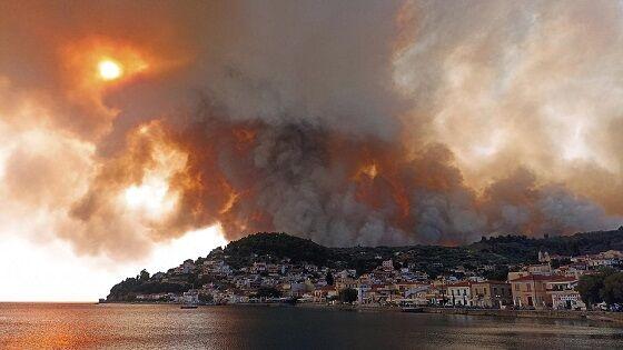 Api Di Gunung Dekat Gesa Limni Pulau Evia AP Photos E88c8