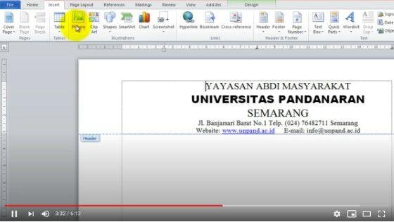Cara Membuat Kop Surat Di Word 2013 D9068