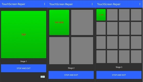 Langkah Dua Kalibrasi Aplikasi Touchscreen Repair 3df46