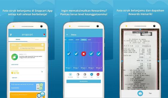 Aplikasi Penghasil Pulsa Snapcart 8e1b1