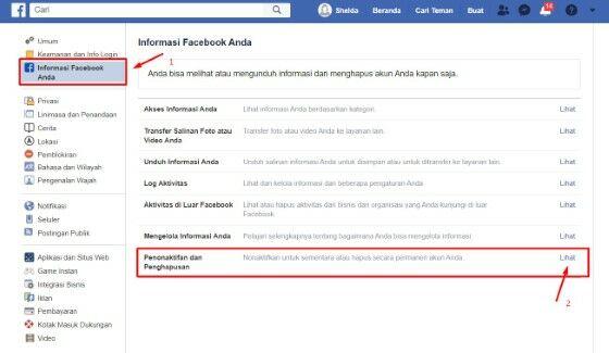 Cara Menghapus Akun Facebook Sendiri Lewat Hp Custom Dca3d
