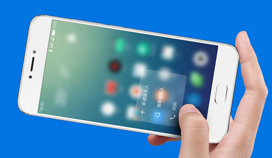 Smartphone Android dengan 3D Press Meizu Pro 6