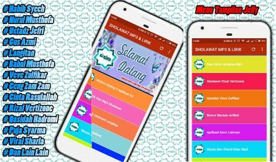 Aplikasi Lirik Lagu Offline Sholawat Nabi Cacde