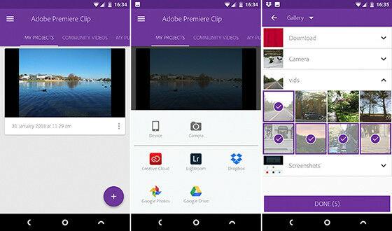 Aplikasi Edit Video Android Adobe Premier Clip B2847