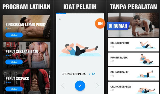 Aplikasi Olahraga Di Rumah Six Pack 4ae2f