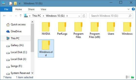 Bagaimana Cara Menghapus Windows Old 19a55