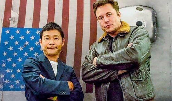 Elon Musk Dan Yusaku Maezawa 427b3