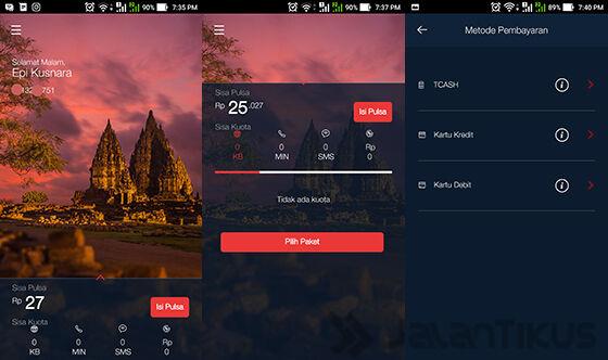 Beranda Dengan Informasi Profil Pengguna Mytelkomsel