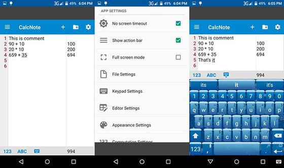 Aplikasi Kalkulator Android 9