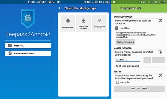 Aplikasi Penyimpan Password Android Keepass2android