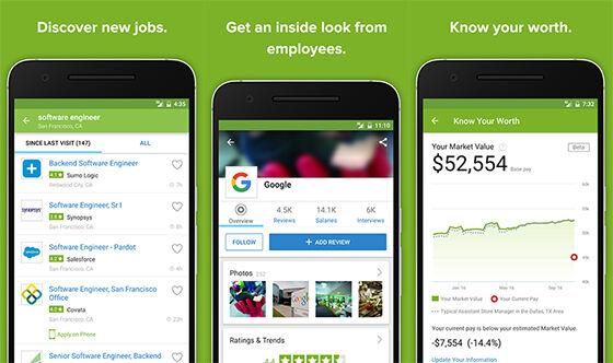 Aplikasi Pencari Kerja Android Job Search Salaries Reviews