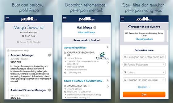 Aplikasi Pencari Kerja Android Jobsdb