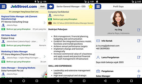 Aplikasi Pencari Kerja Android Jobstreet