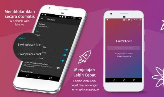 Aplikasi Android Terbaik Firefox Focus