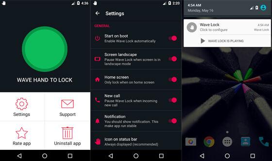 Aplikasi Canggih Android Wave To Unlock 0a9c1