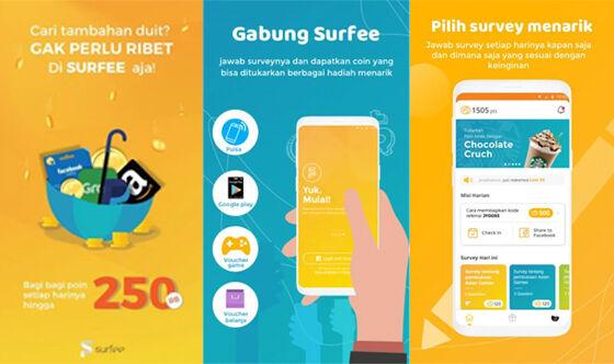 surfee aplikasi survei online penghasil pulsa