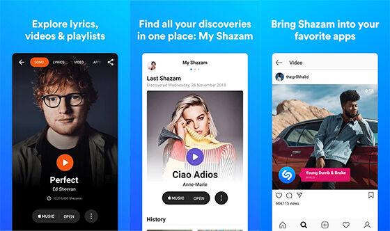 Aplikasi Lirik Lagu Online Shazam 254bf