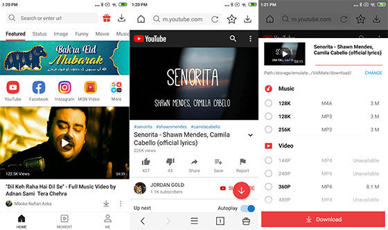 Aplikasi Download Youtube Vidmate 541e0