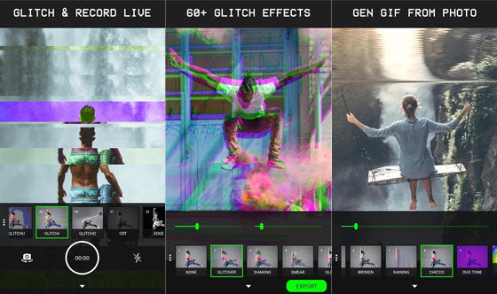 Aplikasi Edit Video Lucu Glitch Ab033