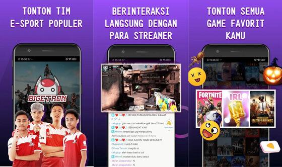 Aplikasi Live Streaming Game Gamely 9fb95