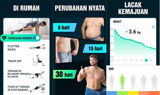 Aplikasi Olahraga Di Rumah Lose Belly Fat 30 Days 3e16f