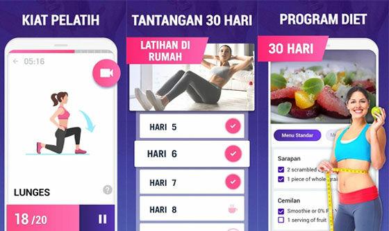 Aplikasi Olahraga Di Rumah Lose Weight 30 Days A1b87