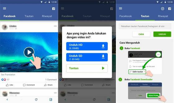 Aplikasi Download Video Facebook Debf4