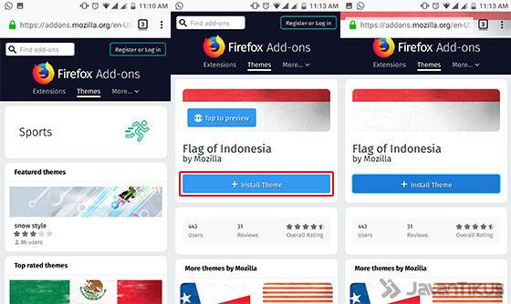 Cara Mengubah Tampilan Browser Android 3