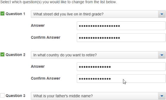 Jawaban Palsu Pertanyaan Keamanan Untuk Menghindari Hack 3fc5c