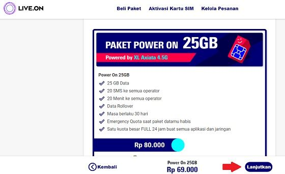 Paket Internet Live On Xl 5 451e5